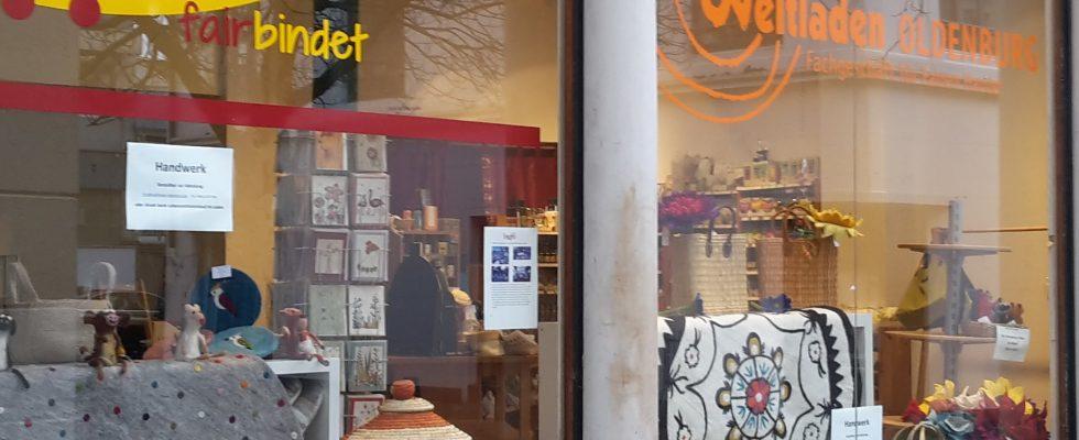 Schaufenster des Ladens