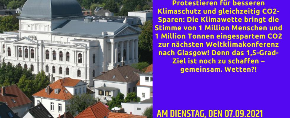 Sharepic zur Klimawette in Oldenburg